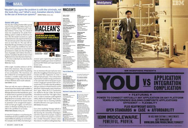 Article Preview: THE MAIL, August 29th 2005 | Maclean's
