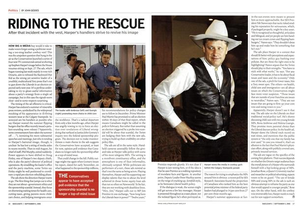 Article Preview: RIDING TO THE RESCUE, September 5th 2005 | Maclean's