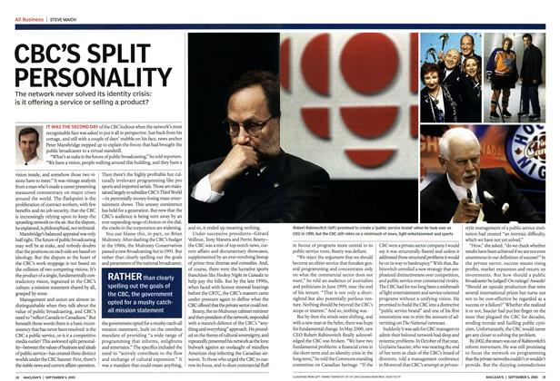 Article Preview: CBC'S SPLIT PERSONALITY, September 2005 | Maclean's
