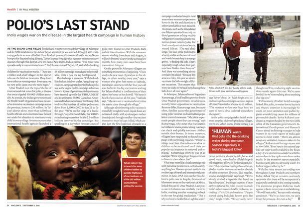 Article Preview: POLIO'S LAST STAND, September 5th 2005 | Maclean's