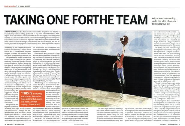 Article Preview: TAKING ONE FOR THE TEAM, September 2005   Maclean's