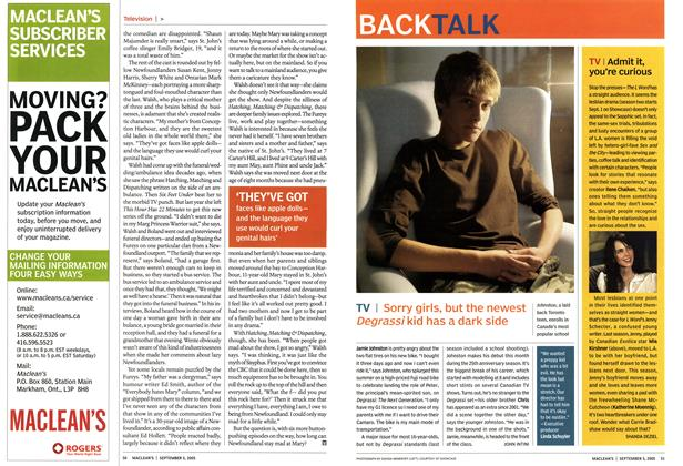 Article Preview: BACK TALK, September 5th 2005 | Maclean's
