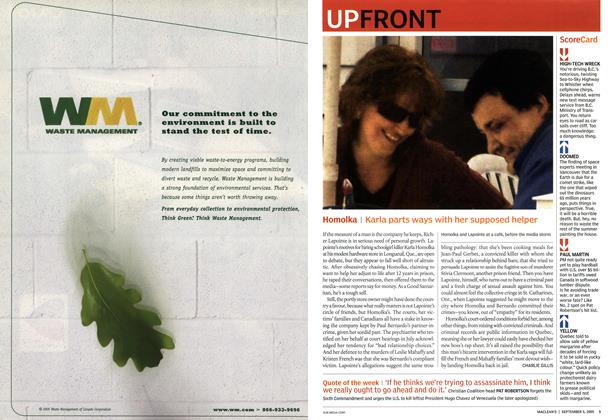 Article Preview: UP FRONT, September 5th 2005 | Maclean's