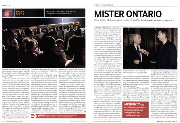 Article Preview: MISTER ONTARIO, September 12th 2005 | Maclean's