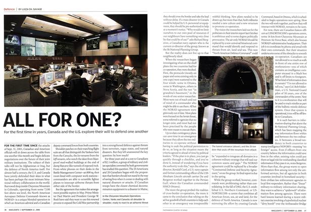 Article Preview: ALL FOR ONE?, September 2005 | Maclean's