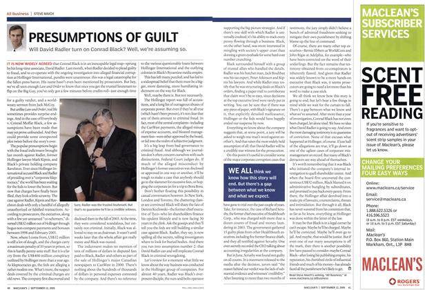 Article Preview: PRESUMPTIONS OF GUILT, September 12th 2005 | Maclean's