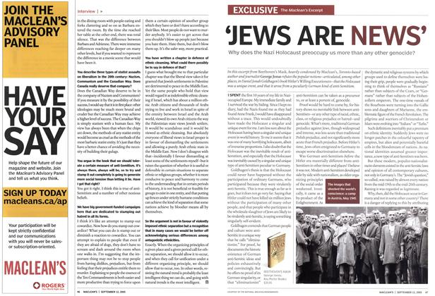 Article Preview: 'JEWS ARE NEWS', September 12th 2005 | Maclean's