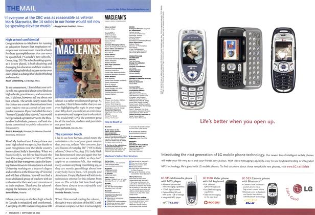 Article Preview: THE MAIL, September 12th 2005 | Maclean's