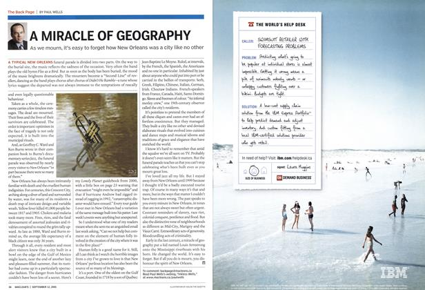 Article Preview: A MIRACLE OF GEOGRAPHY, September 2005 | Maclean's