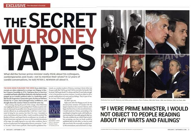 Article Preview: THE SECRET MULRONEY TAPES, September 19th 2005 | Maclean's