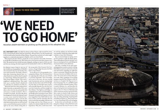 Article Preview: 'WE NEED TO GO HOME', September 19th 2005 | Maclean's