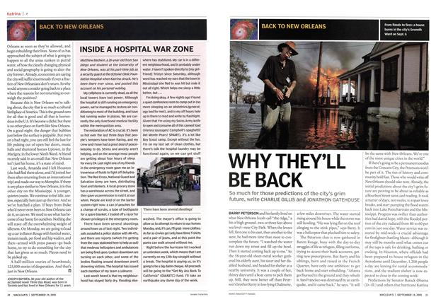 Article Preview: WHY THEY'LL BE BACK, September 19th 2005 | Maclean's