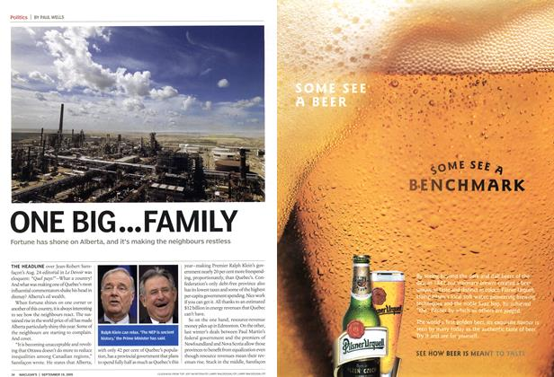 Article Preview: ONE BIG ... FAMILY, September 19th 2005 | Maclean's