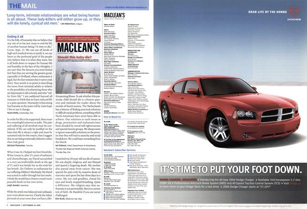 Article Preview: THE MAIL, September 19th 2005   Maclean's