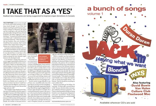 Article Preview: I TAKE THAT AS A 'YES', September 2005 | Maclean's