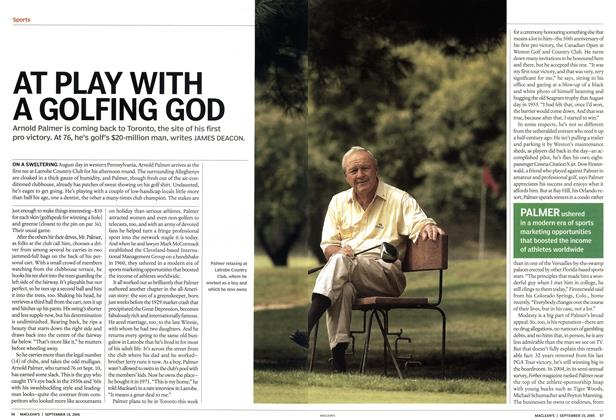 Article Preview: AT PLAY WITH A GOLFING GOD, September 19th 2005 | Maclean's