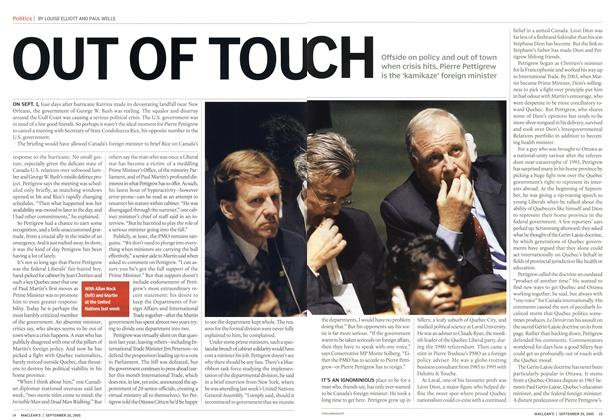 Article Preview: OUT OF TOUCH, September 26th 2005 | Maclean's