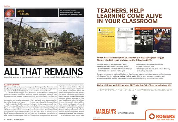 Article Preview: ALL THAT REMAINS, September 2005 | Maclean's