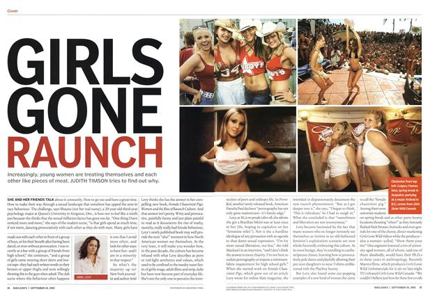 Article Preview: GIRLS GONE RAUNCH, September 2005 | Maclean's