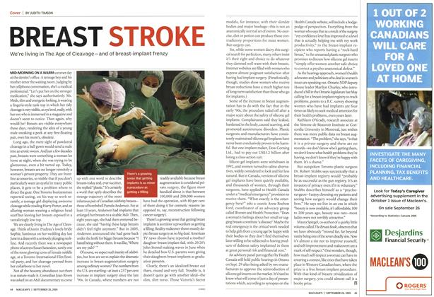 Article Preview: BREAST STROKE, September 26th 2005 | Maclean's