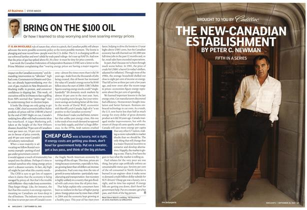 Article Preview: THE NEW-CANADIAN ESTABLISHMENT, September 26th 2005 | Maclean's