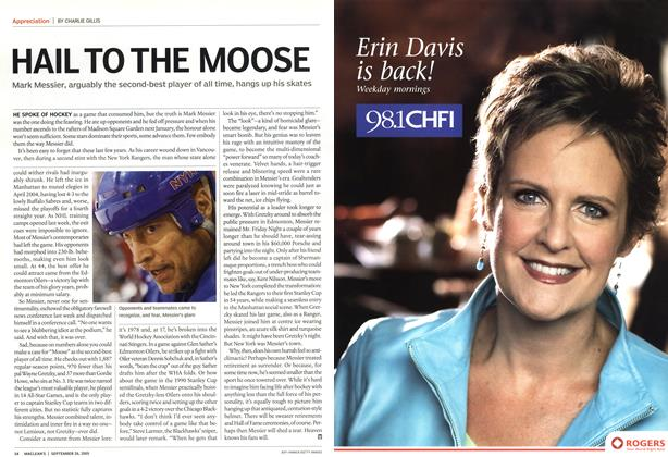 Article Preview: HAIL TO THE MOOSE, September 2005 | Maclean's