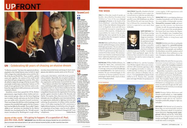 Article Preview: UN, September 2005 | Maclean's