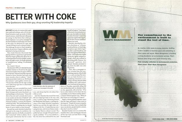 Article Preview: BETTER WITH COKE, October 3rd 2005 | Maclean's