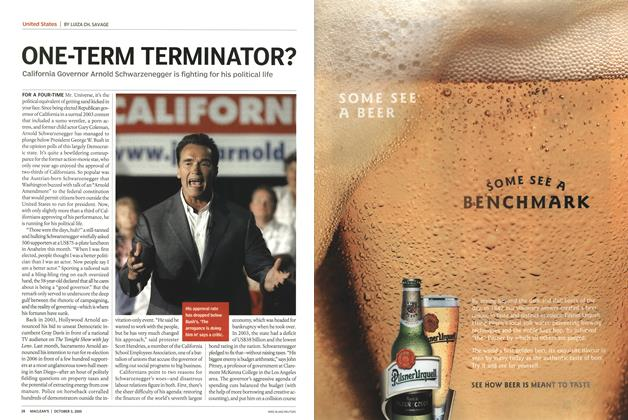 Article Preview: ONE-TERM TERMINATOR?, October 3rd 2005 | Maclean's