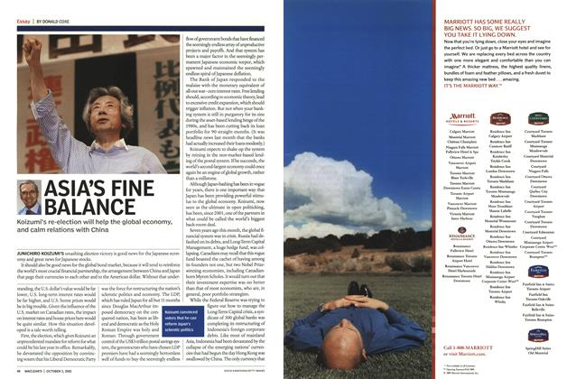 Article Preview: ASIA'S FINE BALANCE, October 3rd 2005 | Maclean's
