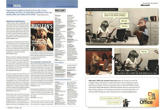 Article Preview: THE MAIL, October 3rd 2005   Maclean's