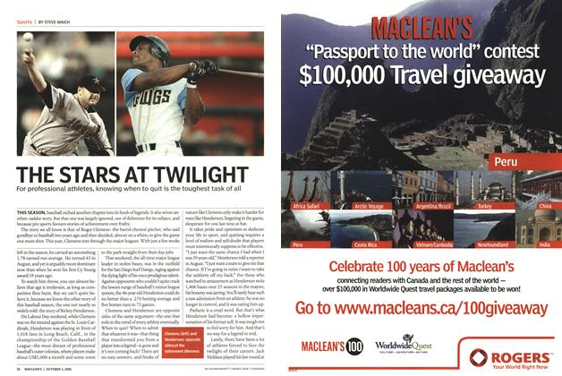 Article Preview: THE STARS AT TWILIGHT, October 2005 | Maclean's