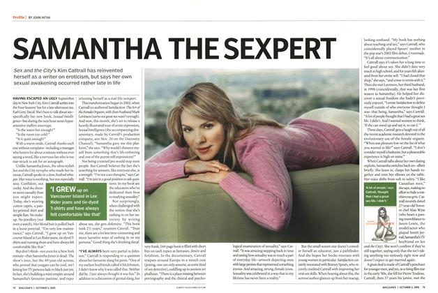 Article Preview: SAMANTHA THE SEXPERT, October 3rd 2005 | Maclean's