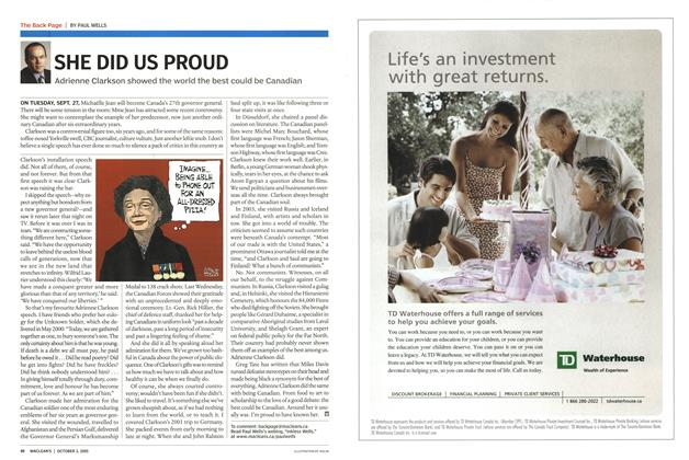 Article Preview: SHE DID US PROUD, October 2005 | Maclean's