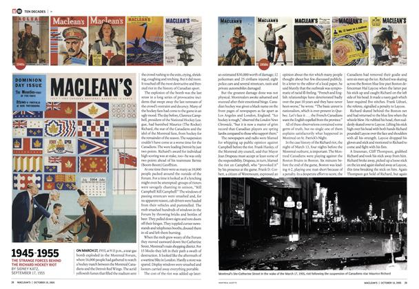 Article Preview: 1945-1955, October 10th 2005 | Maclean's