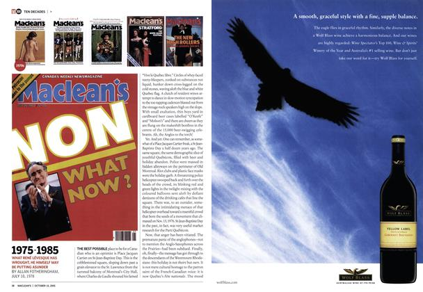Article Preview: 1975-1985, October 10th 2005   Maclean's