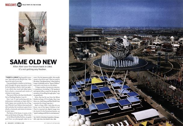 Article Preview: SAME OLD NEW, October 2005 | Maclean's