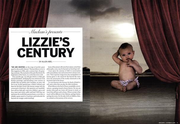 Article Preview: LIZZIE'S CENTURY, October 10th 2005 | Maclean's