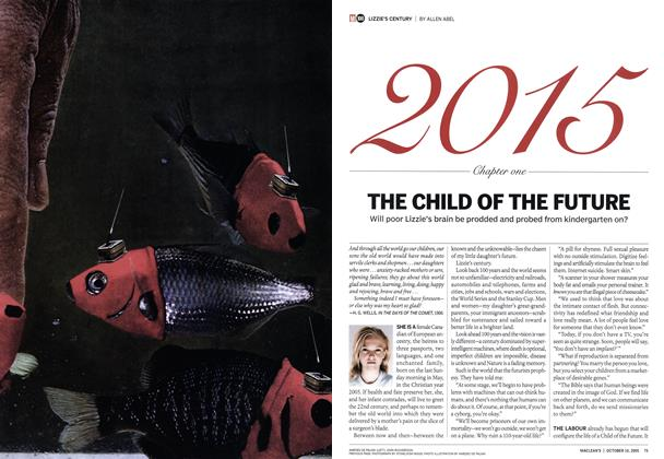 Article Preview: THE CHILD OF THE FUTURE, October 10th 2005 | Maclean's