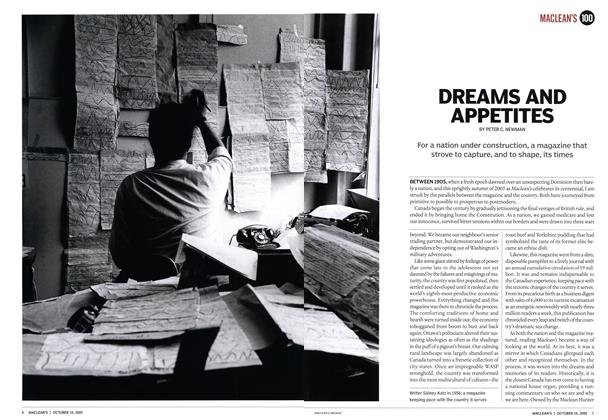 Article Preview: DREAMS AND APPETITES, October 10th 2005 | Maclean's