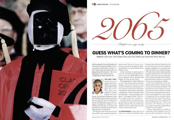 Article Preview: GUESS WHAT'S COMING TO DINNER?, October 10th 2005 | Maclean's