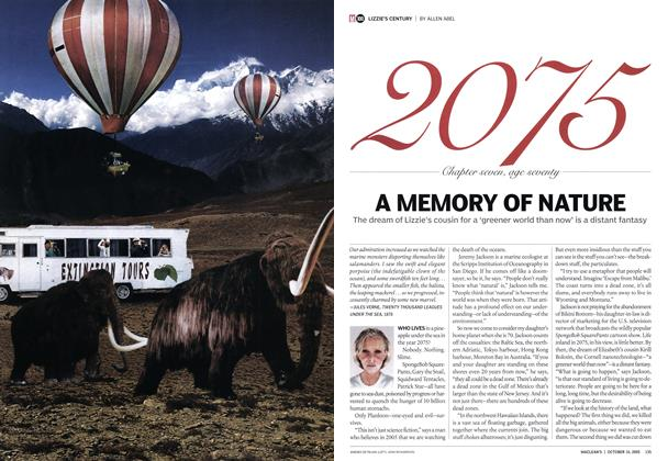 Article Preview: A MEMORY OF NATURE, October 10th 2005 | Maclean's