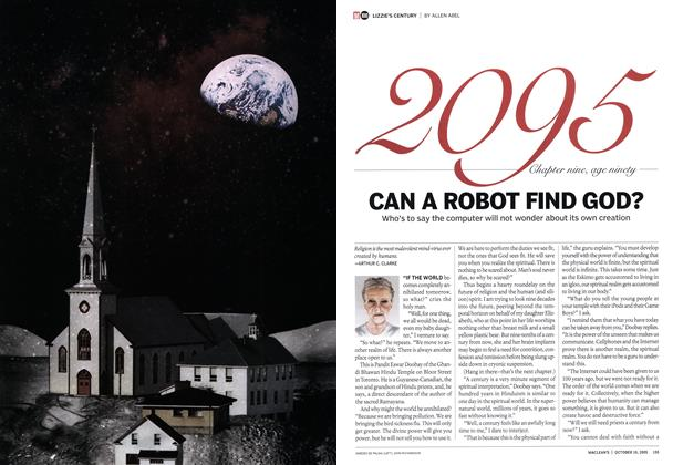 Article Preview: CAN A ROBOT FIND GOD?, October 10th 2005 | Maclean's