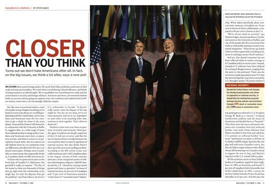 CLOSER THAN YOU THINK - October | Maclean's
