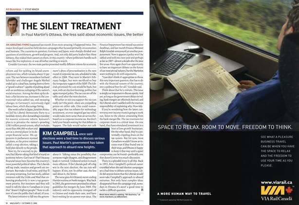 Article Preview: THE SILENT TREATMENT, October 2005 | Maclean's