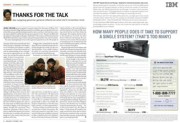 Article Preview: THANKS FOR THE TALK, October 17th 2005 | Maclean's