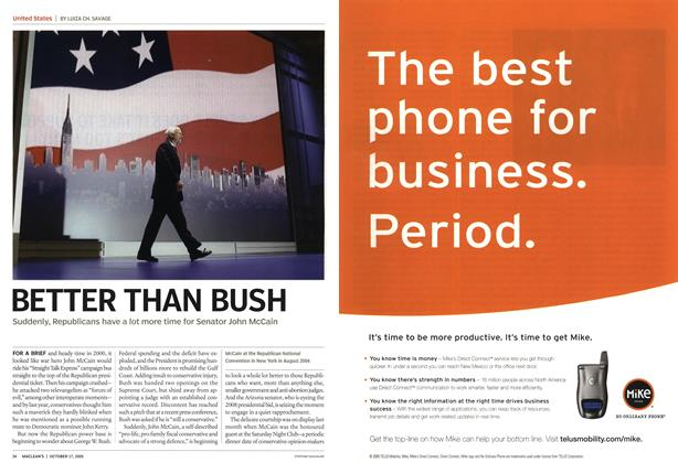 Article Preview: BETTER THAN BUSH, October 17th 2005 | Maclean's