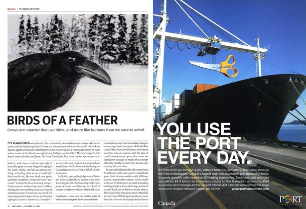 Article Preview: BIRDS OF A FEATHER, October 17th 2005 | Maclean's