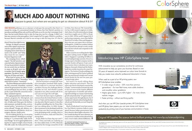 Article Preview: MUCH ADO ABOUT NOTHING, October 17th 2005 | Maclean's