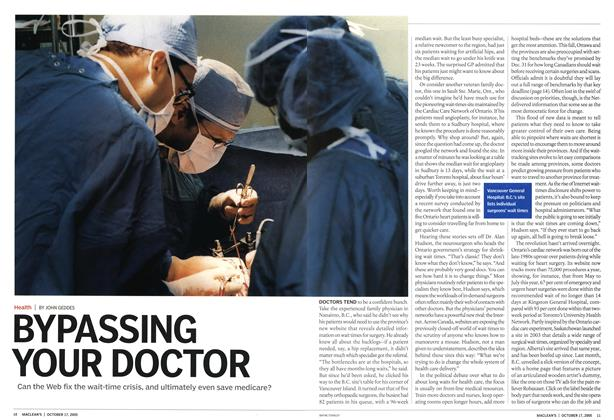 Article Preview: BYPASSING YOUR DOCTOR, October 17th 2005 | Maclean's